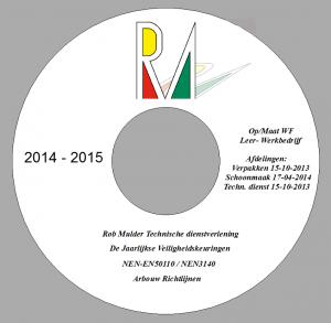 CD label Opmaat